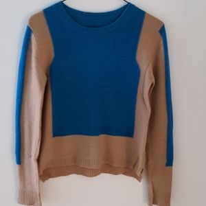 Max&Co blue camel cashmere sweater